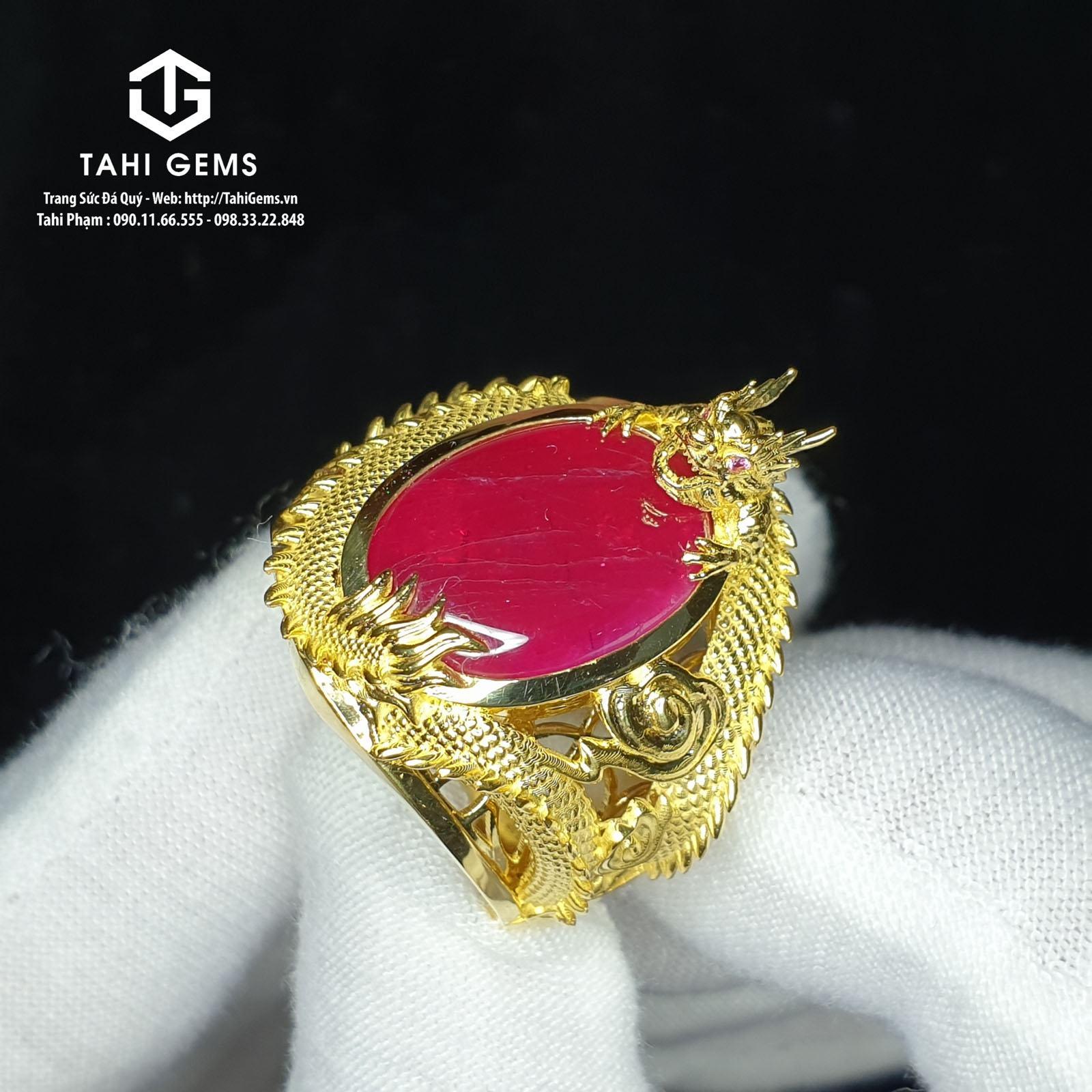 Tổng hợp mẫu nhẫn nam sapphire đẹp màu đỏ