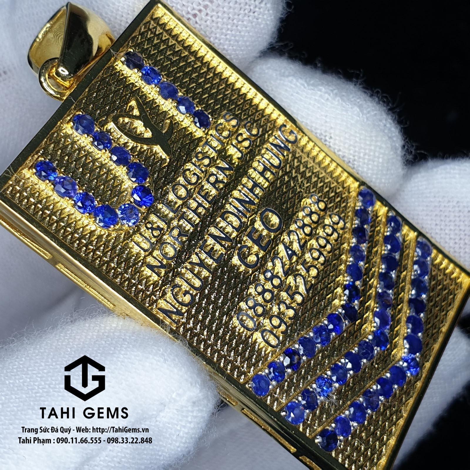 Tổng hợp các mẫu dây chuyền đá sapphire đẹp của Tahigems
